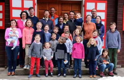 Une semaine de ski familial avec la paroisse, dans notre beau chalet de La Clusaz.
